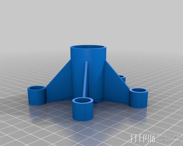BT50火箭组装 3D模型  图2