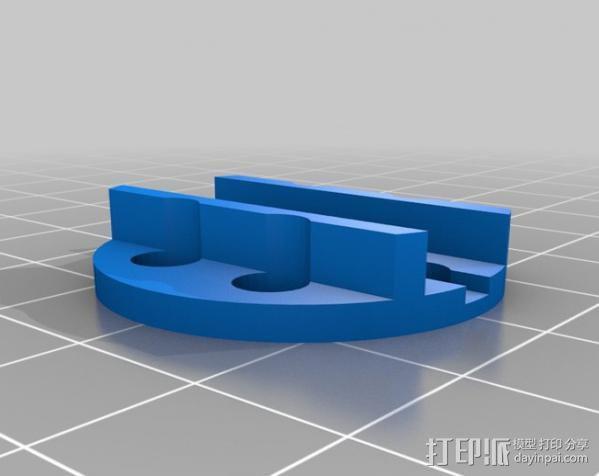 DT750发动机架 3D模型  图3