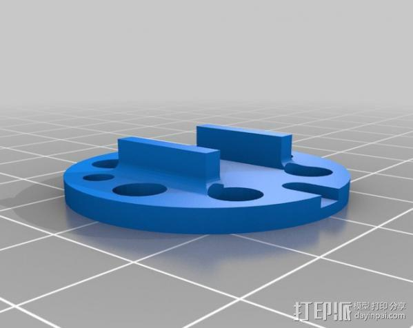 DT750发动机架 3D模型  图2