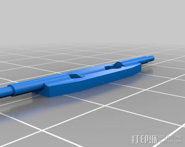 叶片状替换器 3D模型  图1