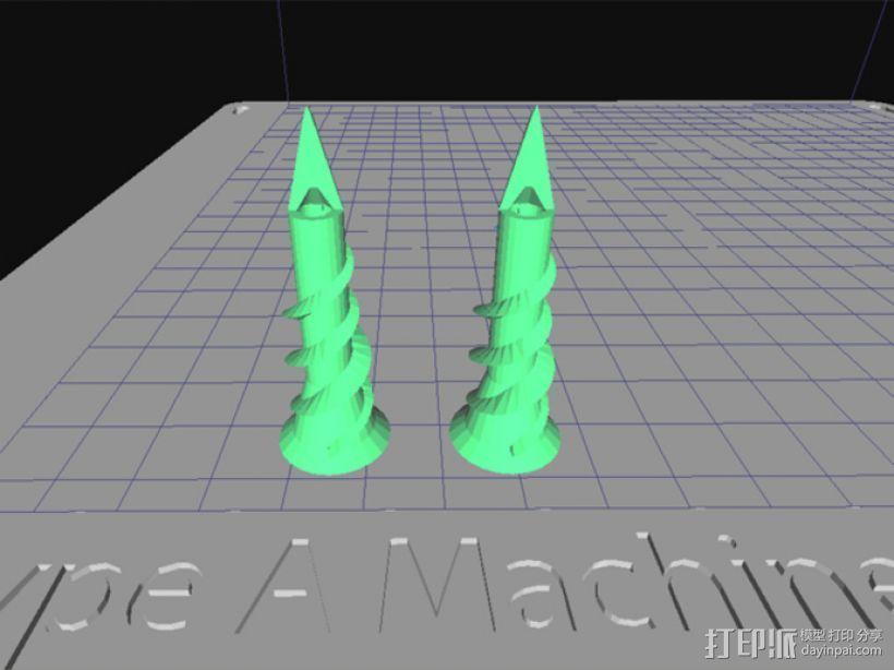 墙角钉 3D模型  图1
