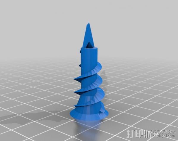 墙角钉 3D模型  图2