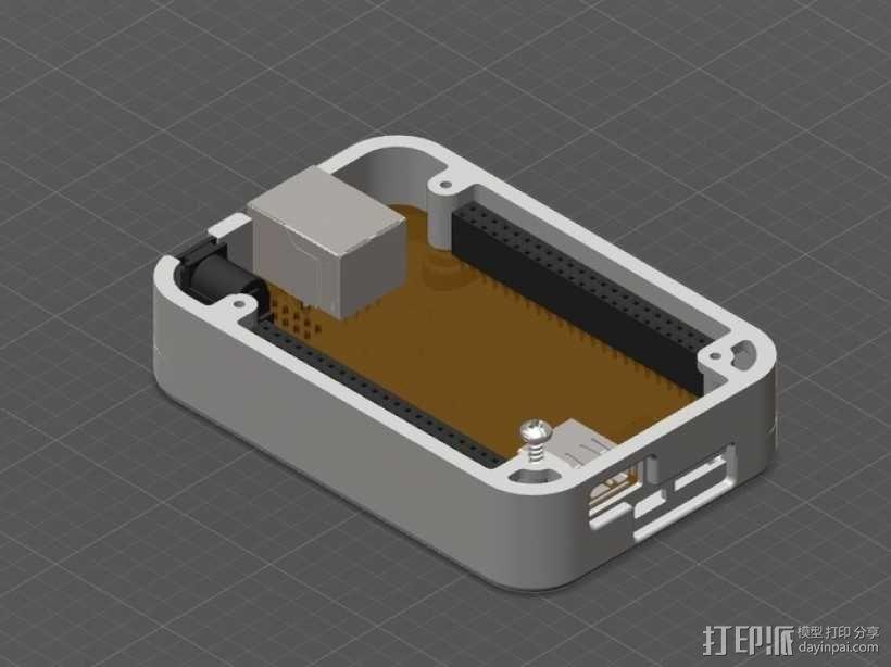骨黑模块盒 3D模型  图1