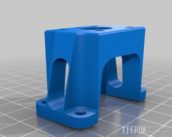 力学 1400mm T-28 发动马达 3D模型  图2