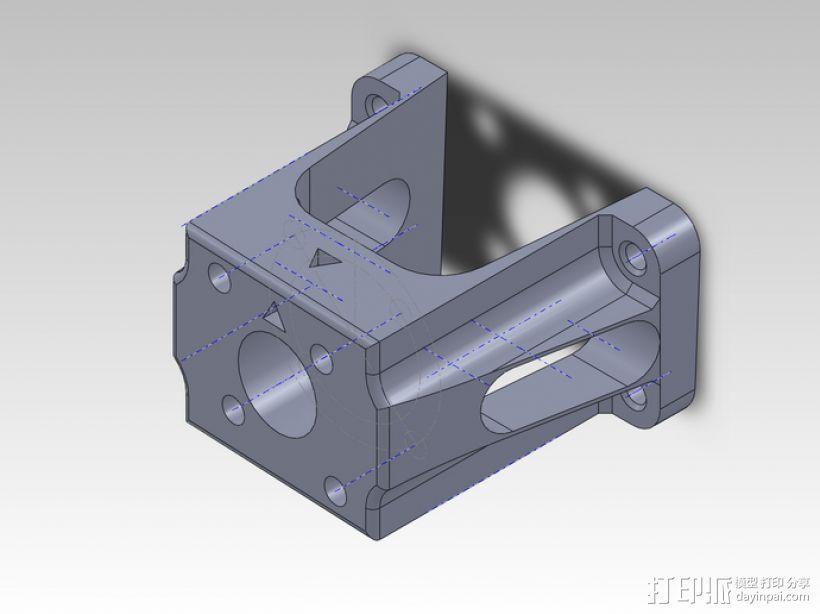 力学 1400mm T-28 发动马达 3D模型  图1