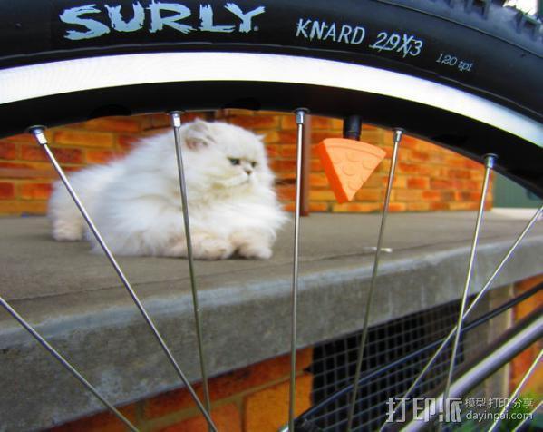 施耐德自行车车的气压阀帽 3D模型  图4