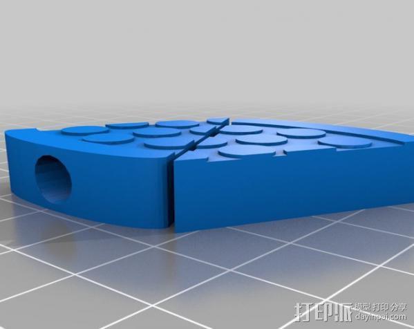 施耐德自行车车的气压阀帽 3D模型  图2