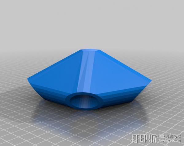 圆顶的二十面体 连接器 3D模型  图3