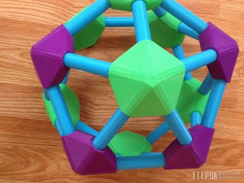 圆顶的二十面体 连接器 3D模型  图2