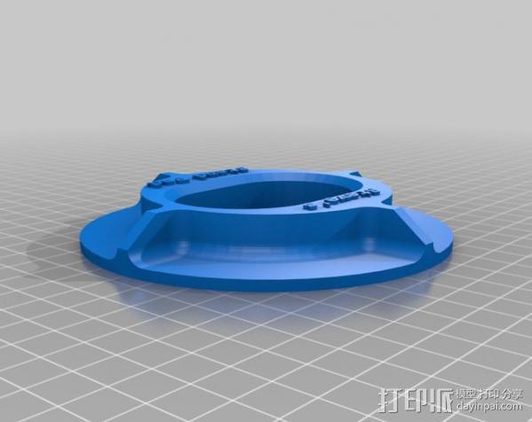 摩托车侧支架垫 3D模型  图2