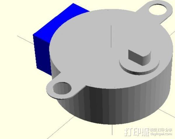 步进电机组件 NO:28BYJ-48 3D模型  图1