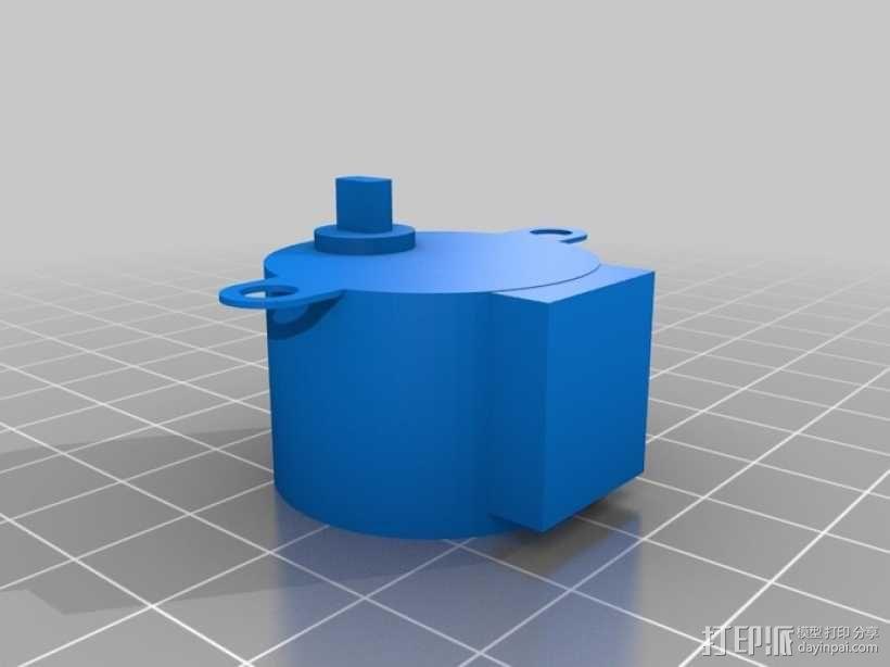 步进电机组件 NO:28BYJ-48 3D模型  图2
