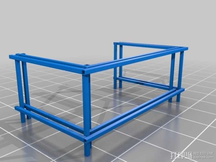 嵌套管表 3D模型  图1