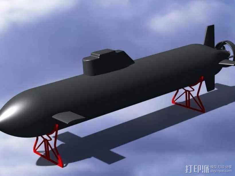 自制RC潜水艇 3D模型  图1