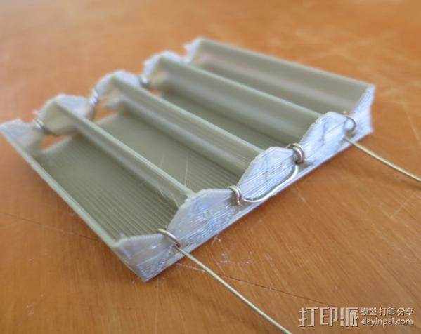 电池座 3D模型  图1