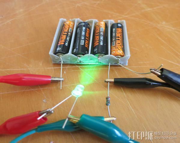 电池座 3D模型  图3