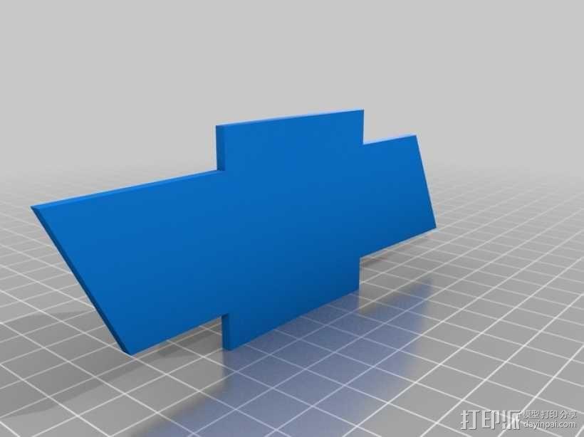 雪佛兰领结 3D模型  图1