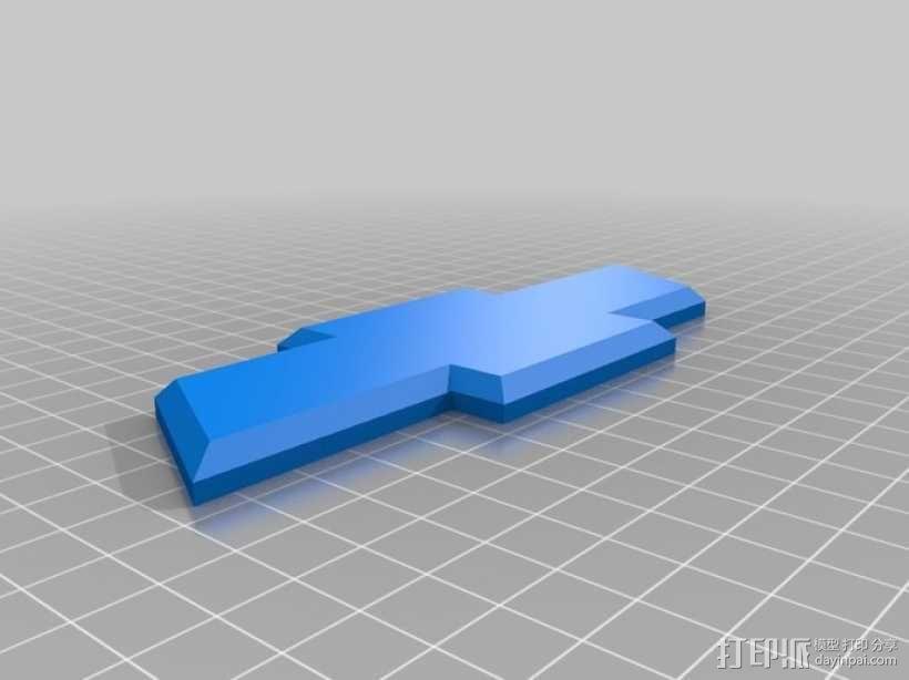雪佛兰领结 3D模型  图2