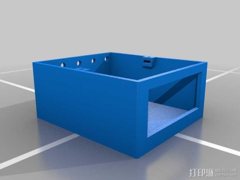 温度控制器外壳 3D模型  图3