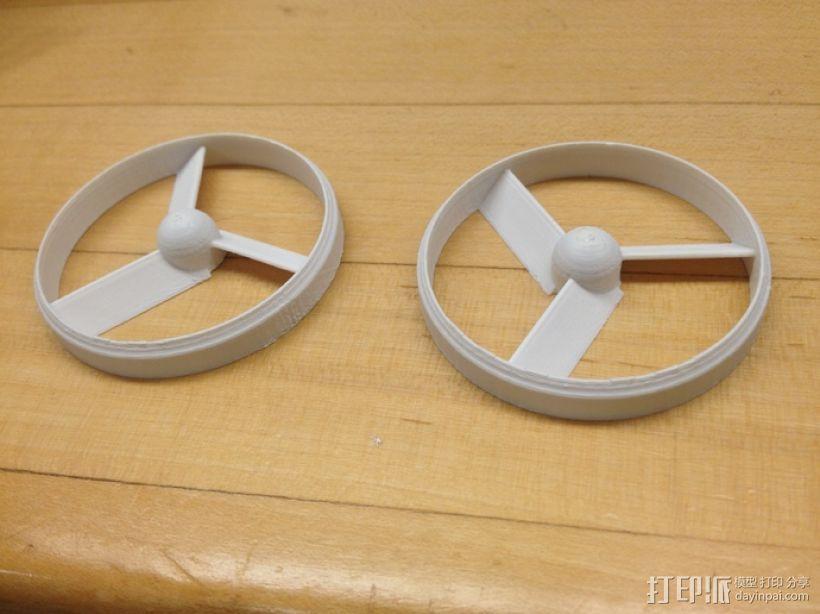 参数导管螺旋桨 3D模型  图1