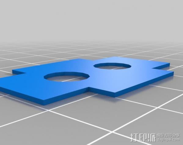 踏板夹板垫片 3D模型  图2