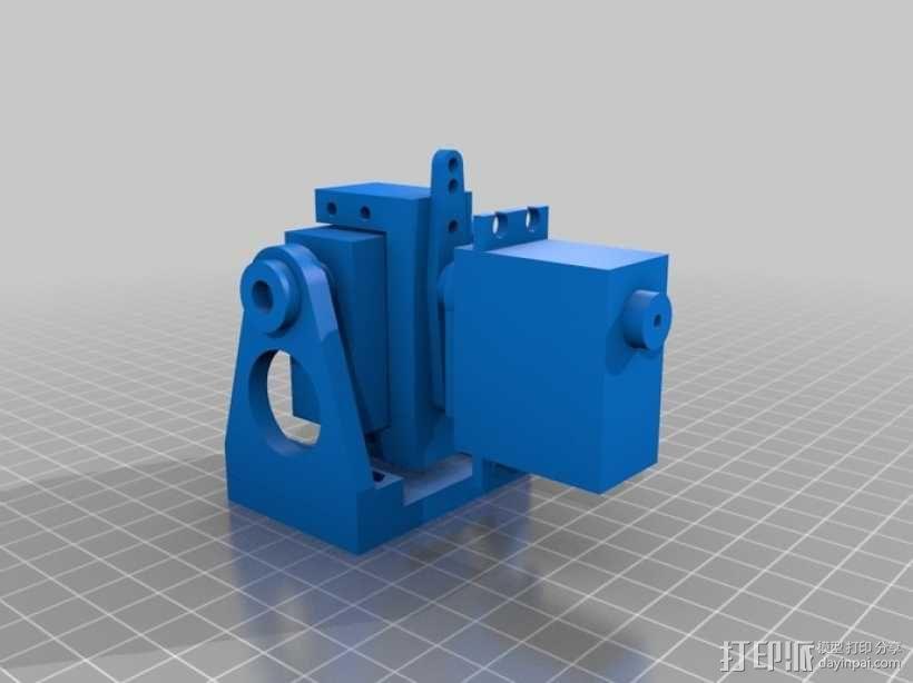 DJI F550 照相机架 3D模型  图1