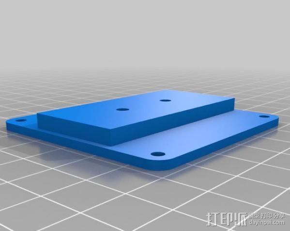 DJI F550 照相机架 3D模型  图3