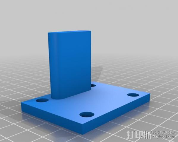 DJI F550 照相机架 3D模型  图10