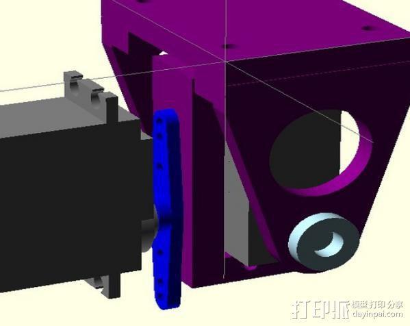 DJI F550 照相机架 3D模型  图9