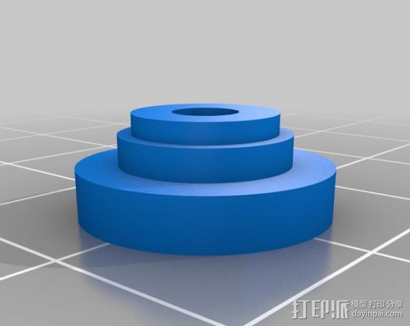 DJI F550 照相机架 3D模型  图21
