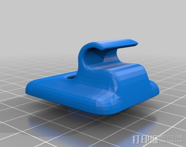 遮阳夹板 3D模型  图2