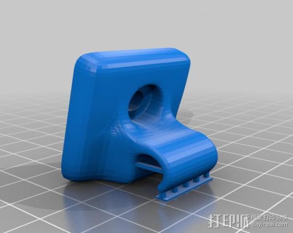 遮阳夹板 3D模型  图3