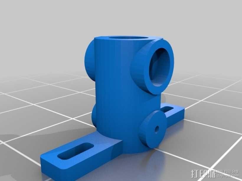 旋翼头中央块 3D模型  图1