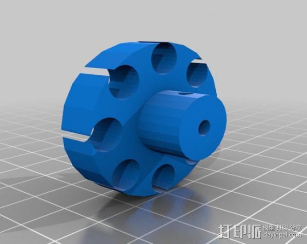 驱动磁铁夹 3D模型  图2