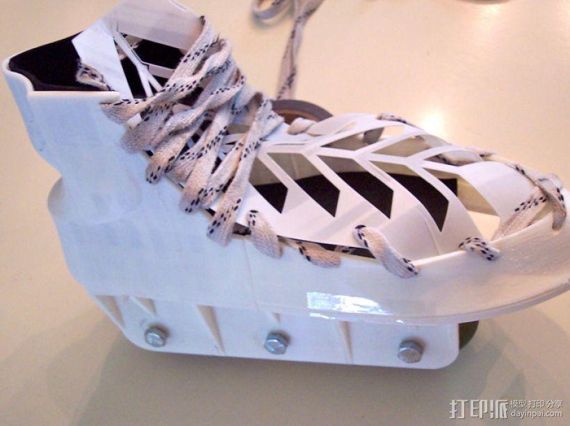定制旱冰鞋 3D模型  图1
