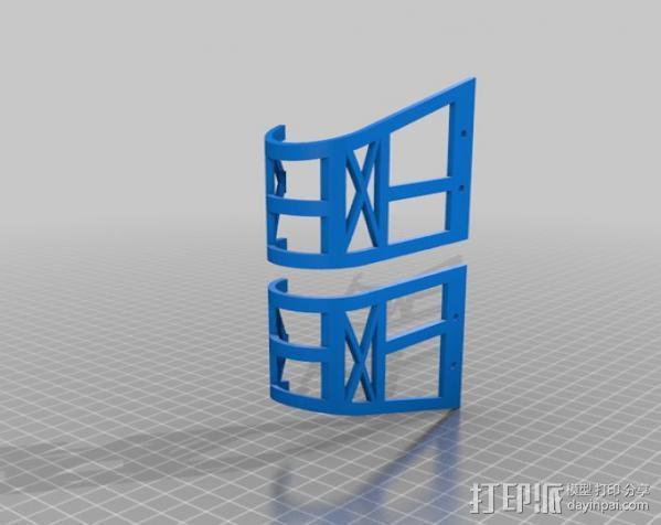 定制旱冰鞋 3D模型  图2