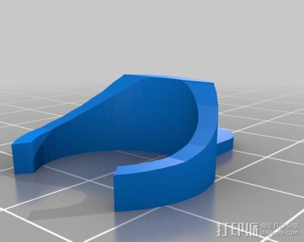 女高音手指夹记录器 3D模型  图1