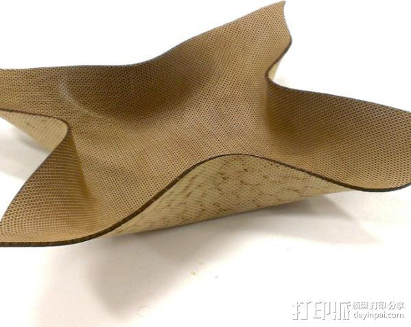 弯曲的mdf碗 3D模型  图1