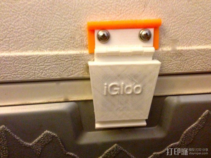 冷却器门闩替换 3D模型  图1