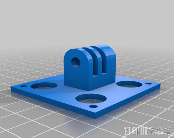 摄影机座架 3D模型  图2