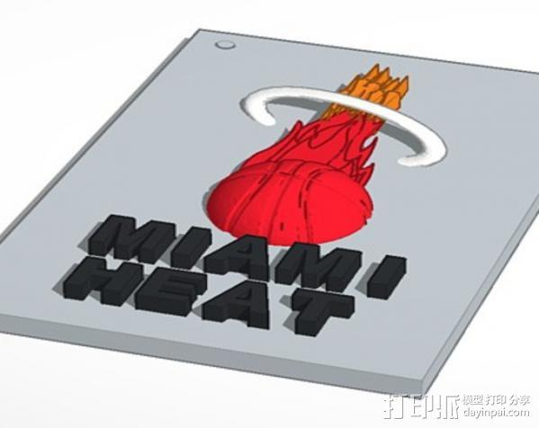 迈阿密热火队标志 3D模型  图1