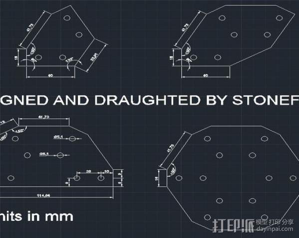 OpenBuilds V-Slot铝型材和120度盘和支架 3D模型  图2