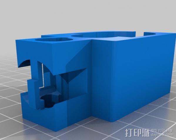 软弹气枪手枪激光瞄准器 3D模型  图2