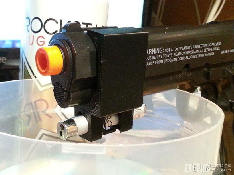 软弹气枪手枪激光瞄准器 3D模型  图5