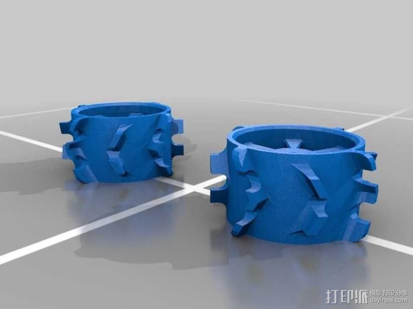 1:10比例RC车轮轴式轮胎 3D模型  图2