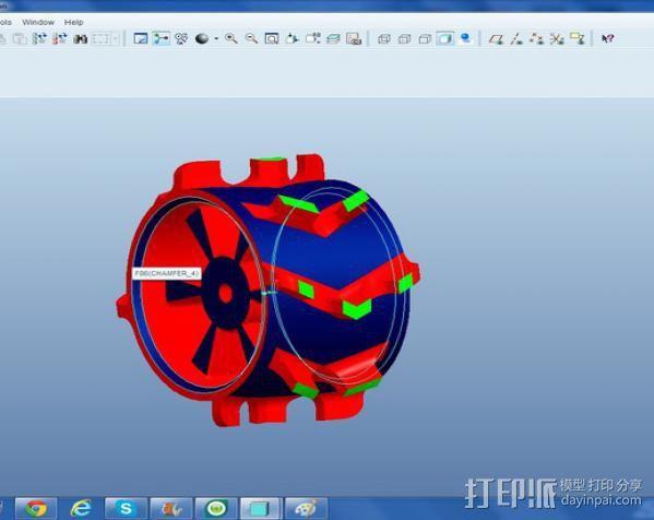 1:10比例RC车轮轴式轮胎 3D模型  图4
