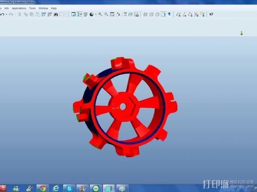 1:10比例RC车轮轴式轮胎 3D模型  图3