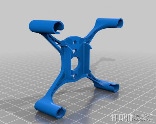 hubsan x4框架 3D模型  图2