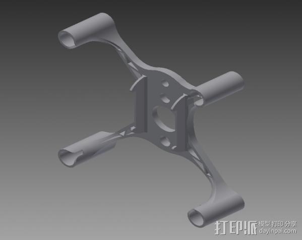 hubsan x4框架 3D模型  图3