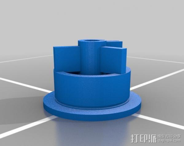 flex轴适配器 3D模型  图2